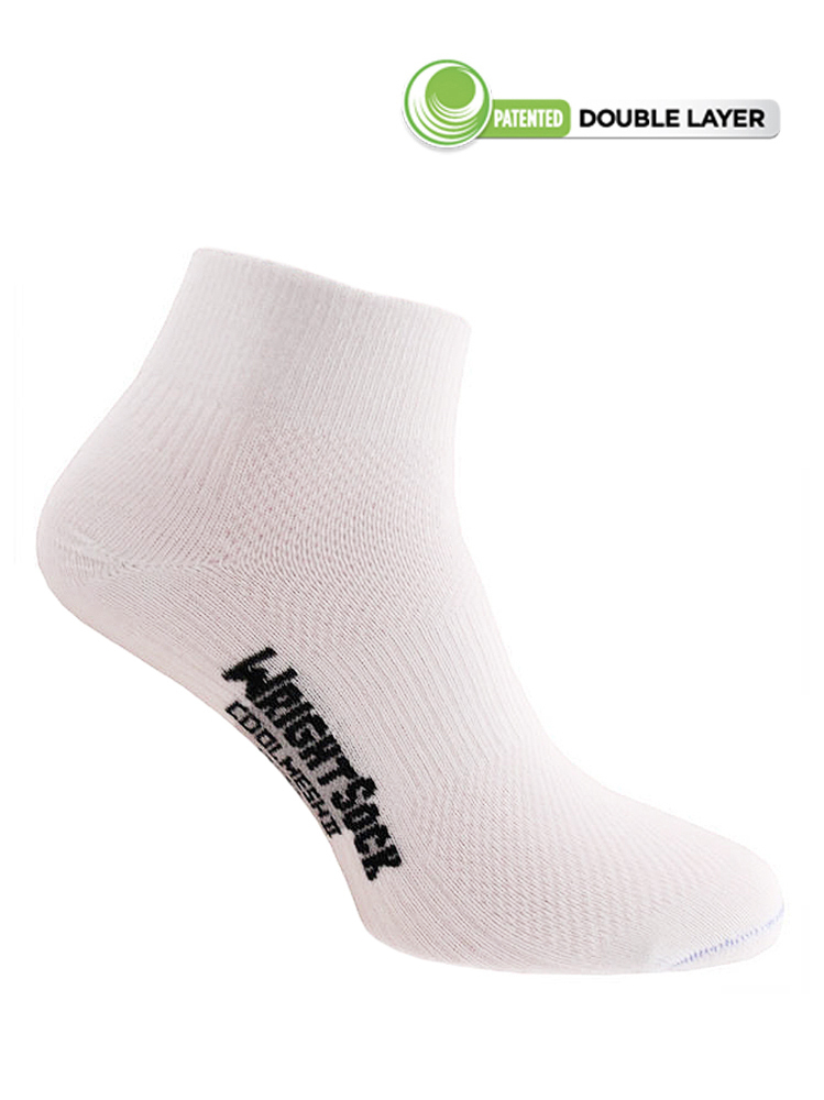 Wrightsock Coolmesh-II Quarter (White)