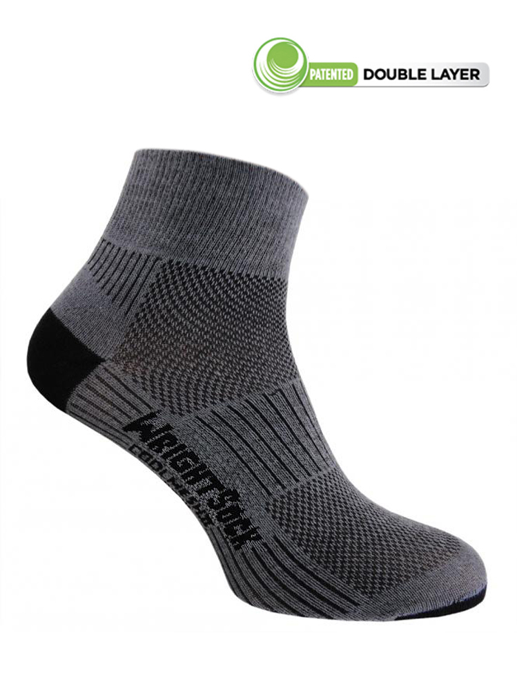 Wrightsock Coolmesh-II Quarter (Grey)