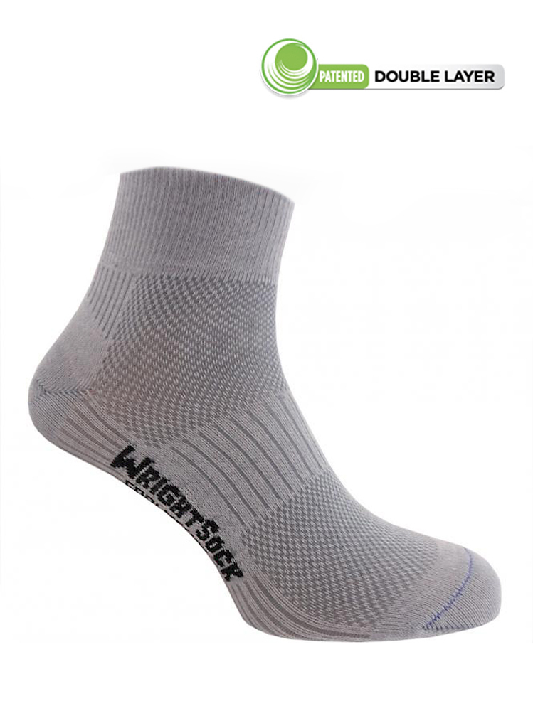 Wrightsock Coolmesh-II Quarter (Light Grey)