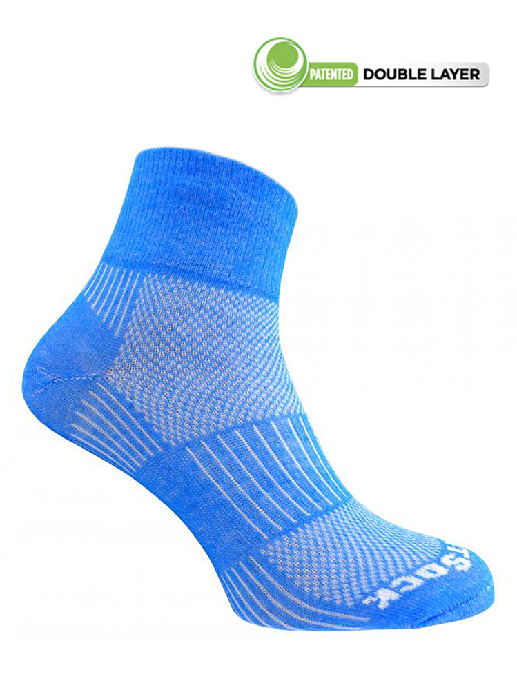 Wrightsock Coolmesh-II Quarter (Medium Blue)