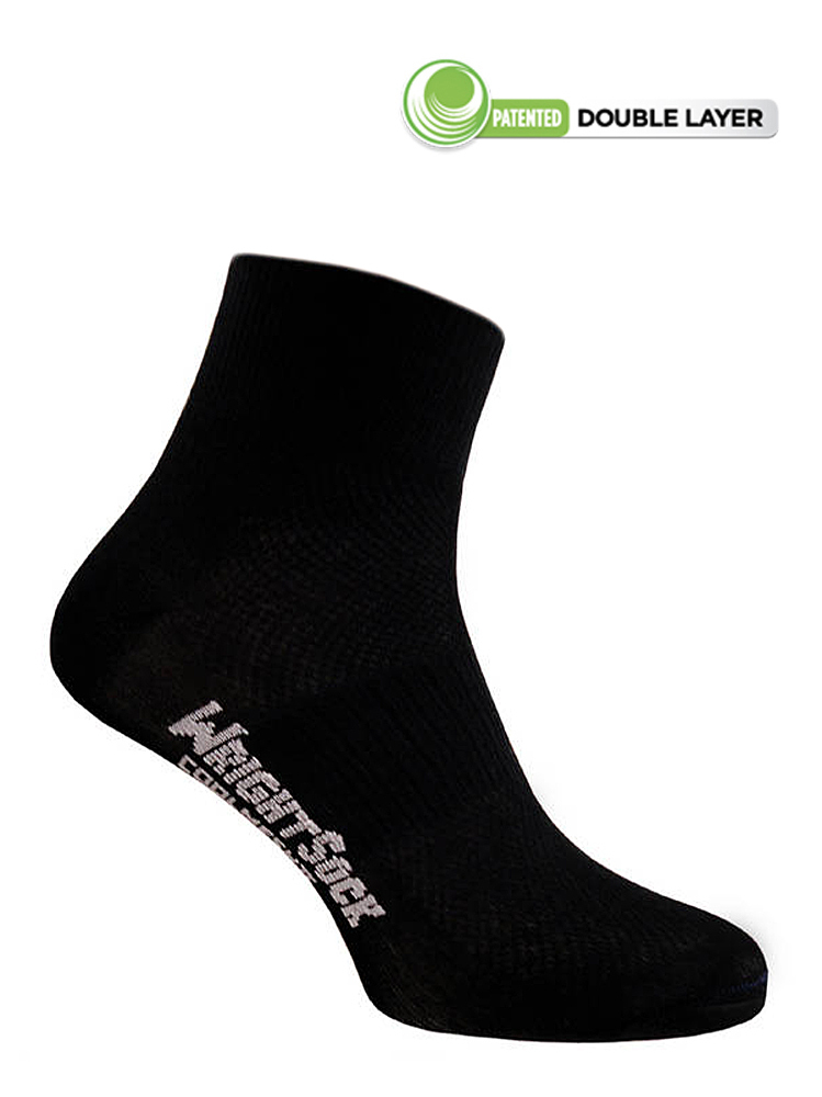 Wrightsock Coolmesh-II Quarter (Black)