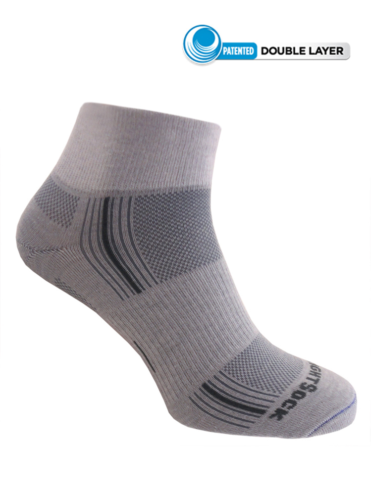 Wrightsock Stride Quarter (Light Grey)