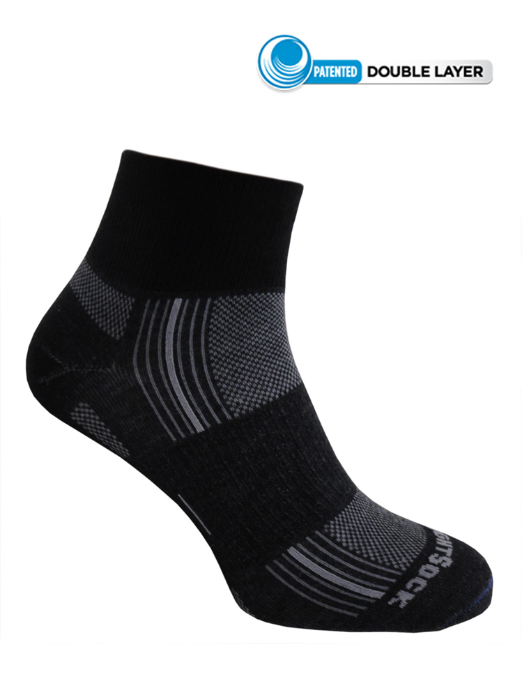 Wrightsock Stride Quarter (Black)