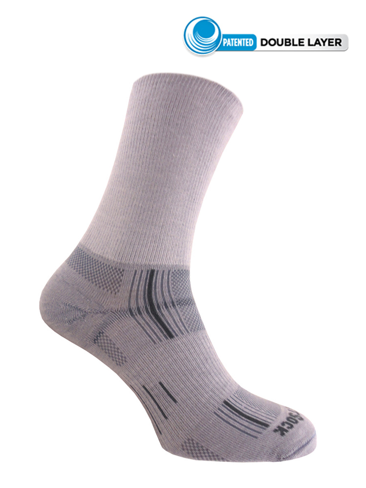 Wrightsock Stride Crew (Light Grey)