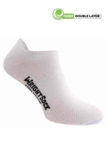 Wrightsock Coolmesh-II Low-Tab (White)