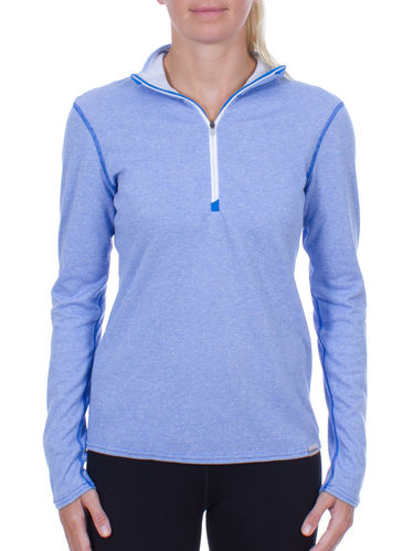 Patagonia Wm's Capilene-3 Midweight Zip Neck (Andes Blue/ Birch White)