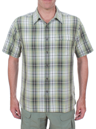 Royal Robbins Plateau Plaid S/S (Artichoke)