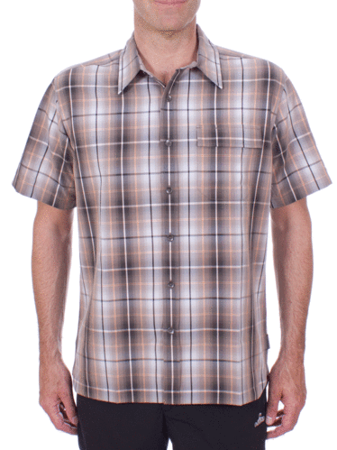 Royal Robbins Plateau Plaid S/S (Taupe)