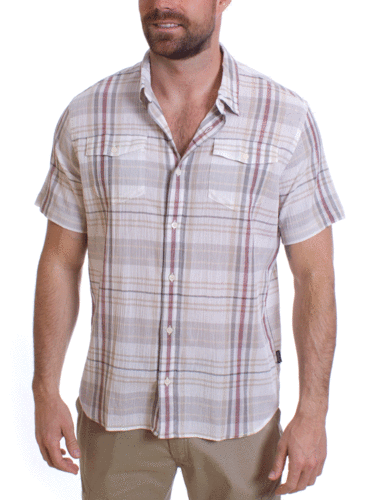 Patagonia M's A/C Steersman Shirt (Claus: Bleached Stone)