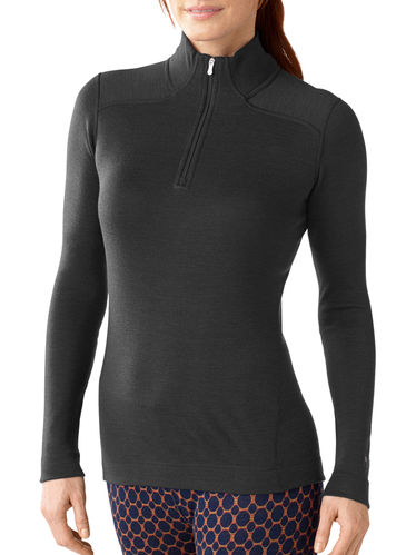 SmartWool Dames NTS 250 Zip T (Charcoal Heather)