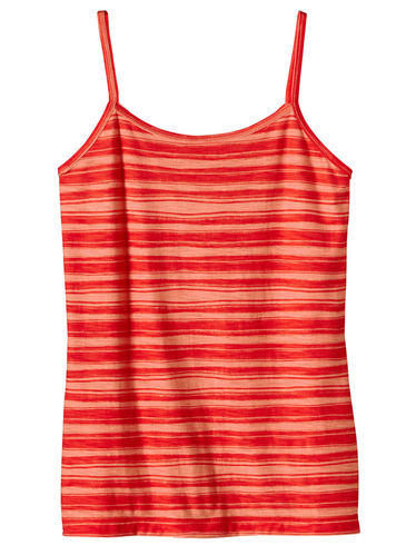 Patagonia W's Necessity Cami (Overseas Stripe: Turkish Red)