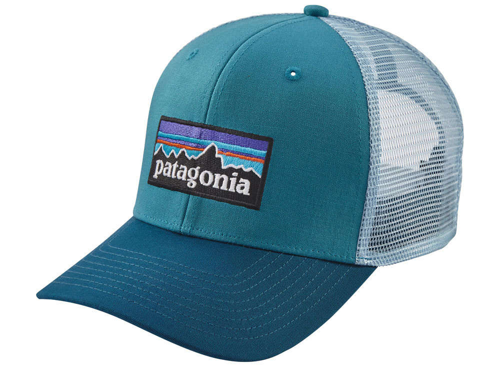 Patagonia P-6 Logo Trucker Hat (Filter Blue) Cap d01028617db
