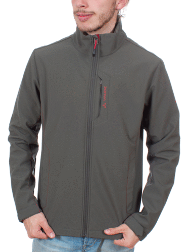 Vaude Men's Cyclone-IV Jacket (Olive/Red)
