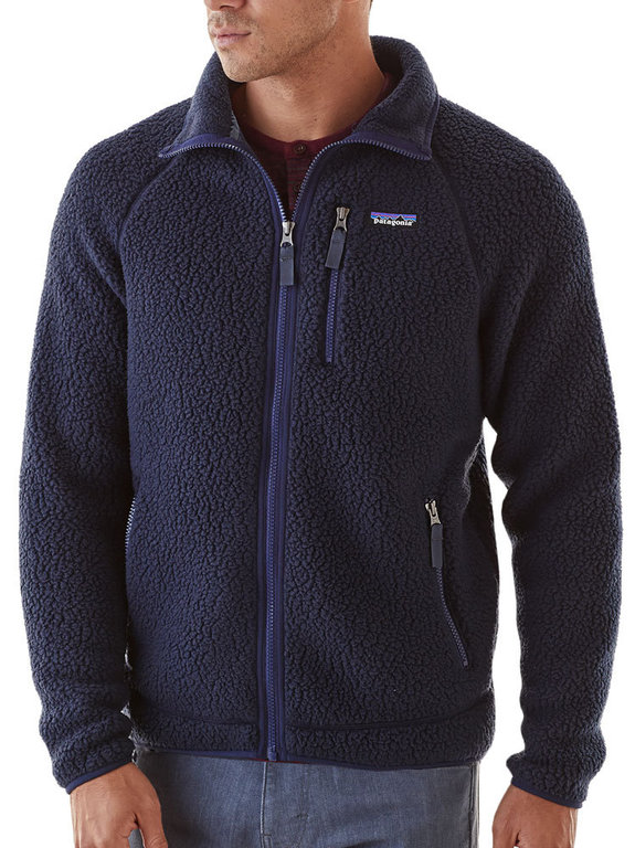 Patagonia Men S Retro Pile Jacket Navy Blue Fleece