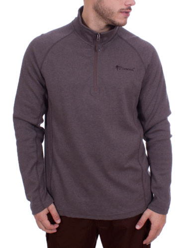 Pinewood Half Zip Sweater Jonathan (L.Brown Melange)