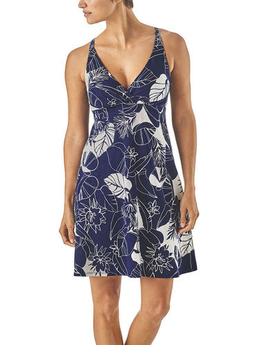 Patagonia Amber Dawn Dress (Valley Flora: Classic Navy/Birch White)