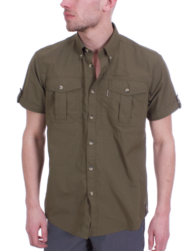 Pinewood Heren Botswana Shirt (Green)