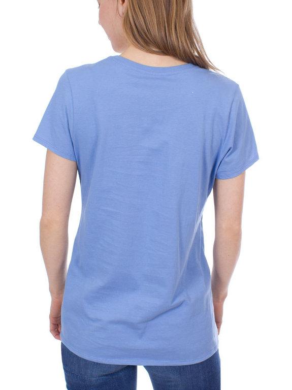 668449a1 ... Patagonia Wm's Raindrop Peak Organic V-Neck T-Shirt (Railroad Blue) ...