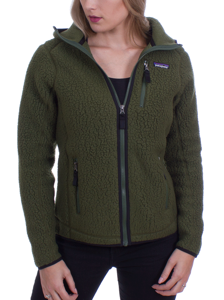 Patagonia Women s Retro Pile Hoody (Nomad Green) Fleece e210db71b