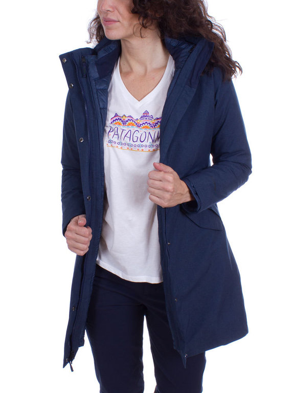 Patagonia Dames Vosque 3 in 1 Parka (Navy Blue)