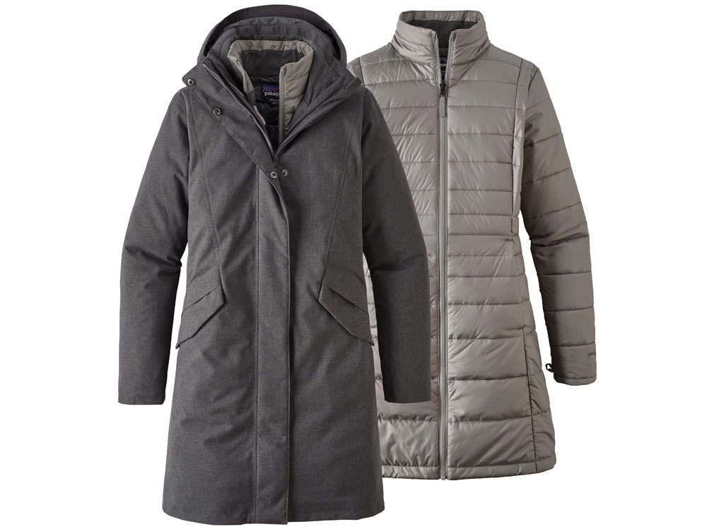 Parka Zomerjas Dames.Patagonia Dames Vosque 3 In 1 Parka Forge Grey Winter Outdoor Jas