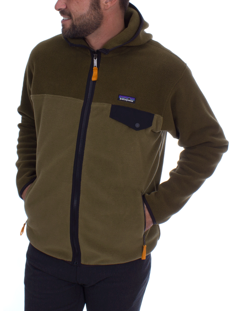c96e2c5f526 Patagonia Men s Lightweight Synchilla Snap-Hoody (Cargo) Jacket Fleece