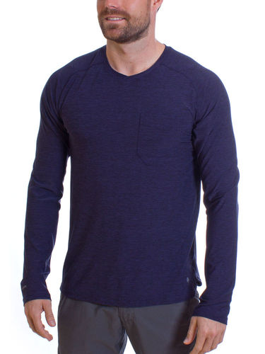 Royal Robbins Heren Bug Barrier Tech Travel LS (Ink Blue Heather)