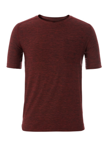 Royal Robbins Heren Tech Travel Tee (Dahlia Red Heather)