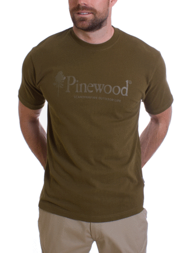 Pinewood Outdoor Life T-shirt (Hunting Olive)