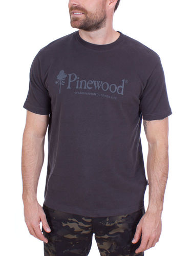 Pinewood Outdoor Life T-shirt (Dark Anthracite)