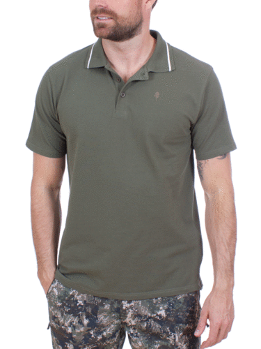 Pinewood Heren Outdoor Life Polo-Shirt (Mid Green)