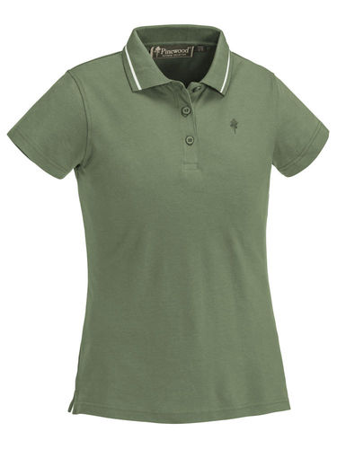 Pinewood Dames Outdoor Life Polo-Shirt (Mid Green)