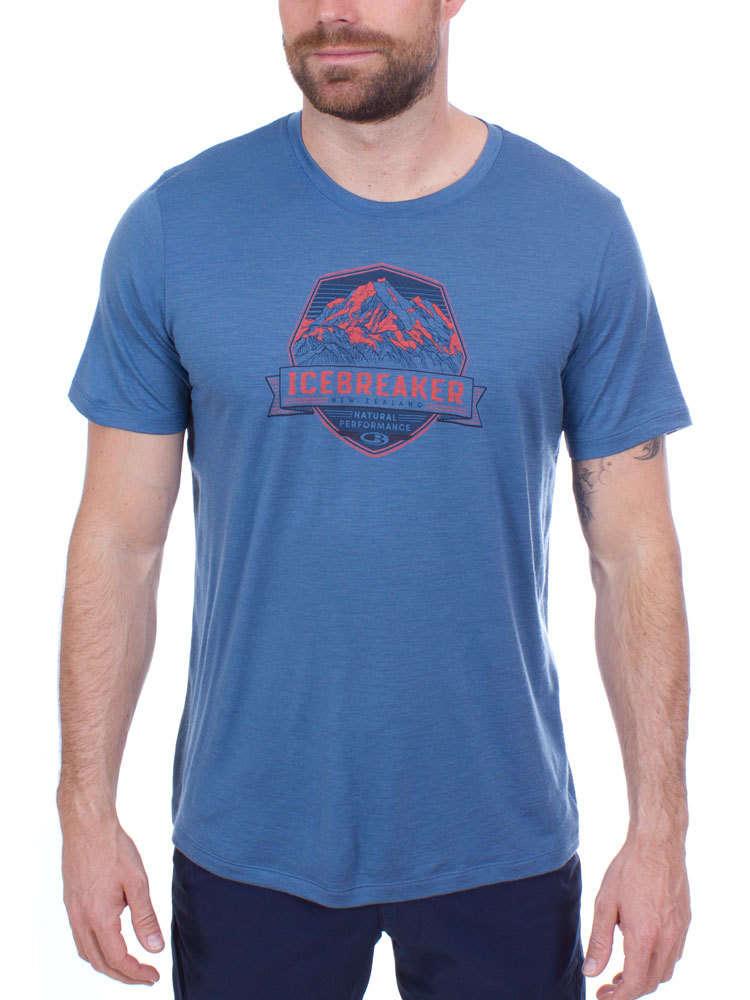 Icebreaker Tech Lite Crewe Cook Crest Mens T-shirt Thunder All Sizes