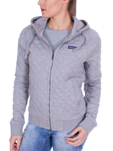 Patagonia Dames Organic Cotton Quilt Hoody (Drifter Grey)