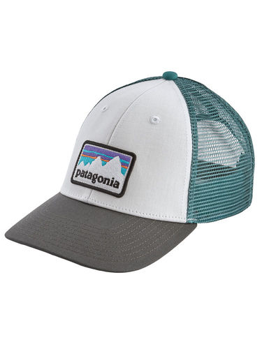 Patagonia Shop Sticker Patch LoPro Trucker Hat (White w/Forge Grey)