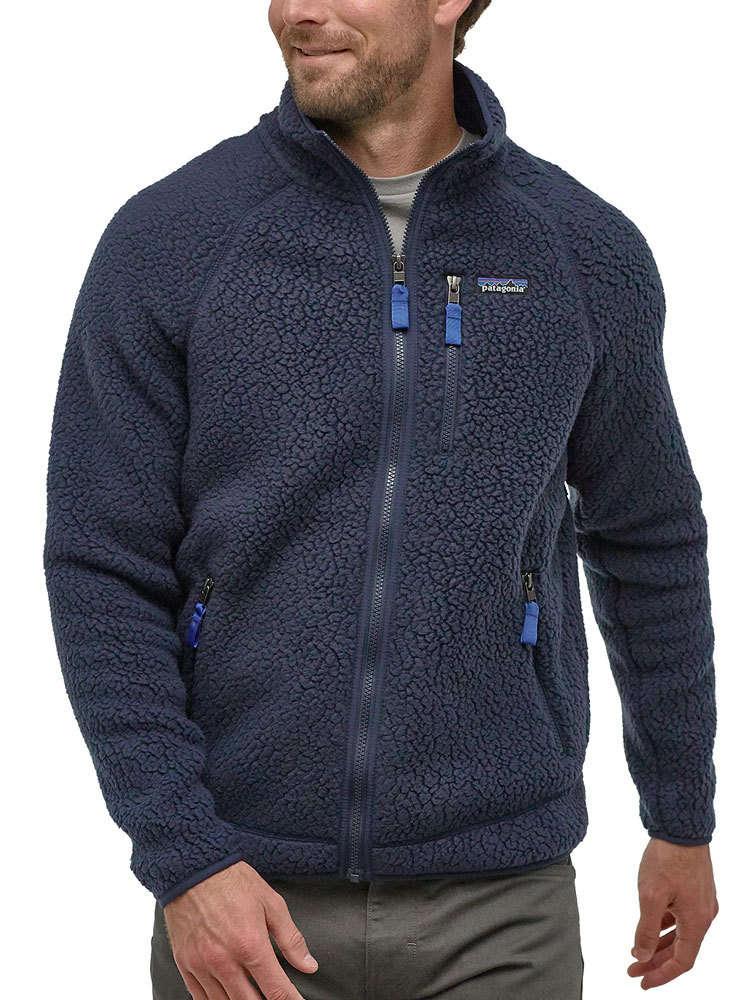 huge inventory hot sale arrives Patagonia Men's Retro Pile Jacket (New Navy) Fleece