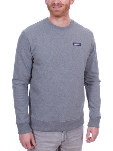 Patagonia Heren P-6 Label Uprisal Crew Sweatshirt (Gravel Heather)