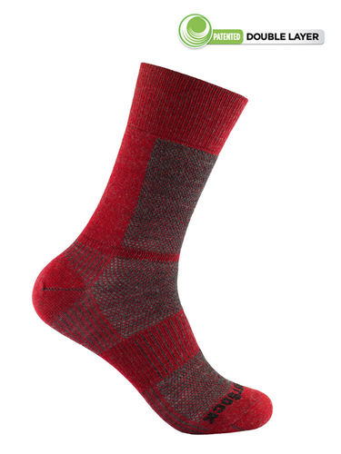 Wrightsock Merino Coolmesh-II Crew (Fire/Grey)