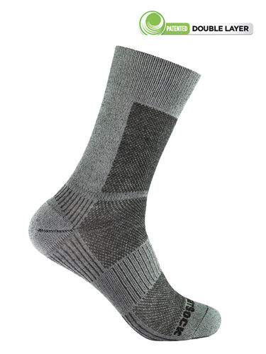 Wrightsock Merino Coolmesh-II Crew (Grey/Smoke)