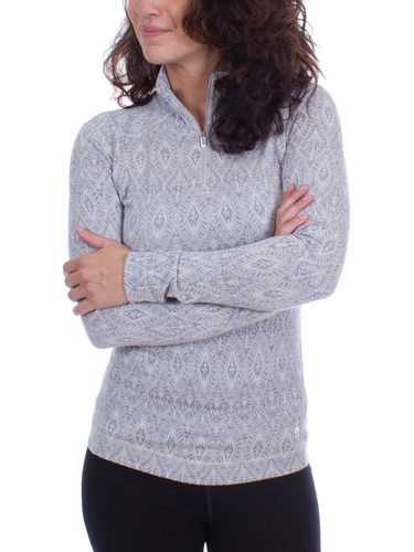 Smartwool Dames NTS Mid 250 Pattern 1/4 Zip (Ash Medaillon)
