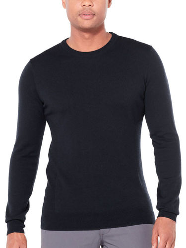 Icebreaker Heren Shearer Crewe Sweater (Black)