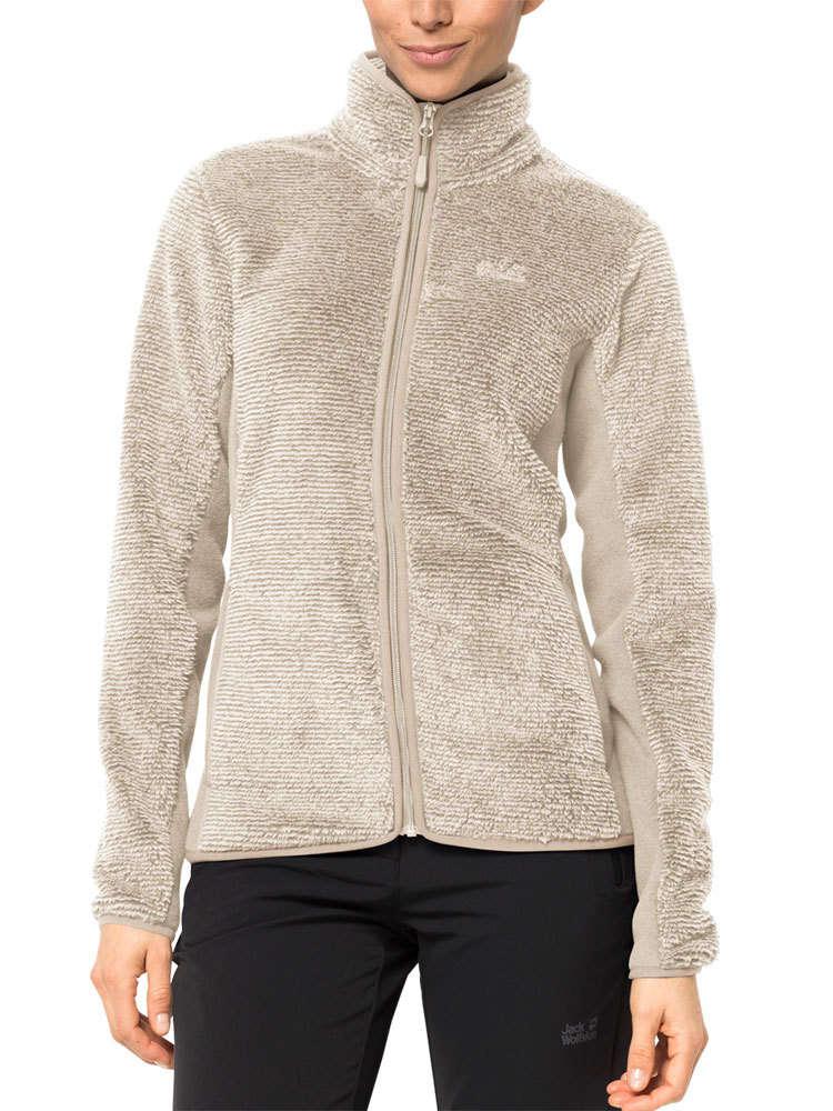 wyprzedaż hurtowa sprzedaje wyprzedaż Jack Wolfskin Women's Pine Leaf Jacket (White Sand Stripes ...