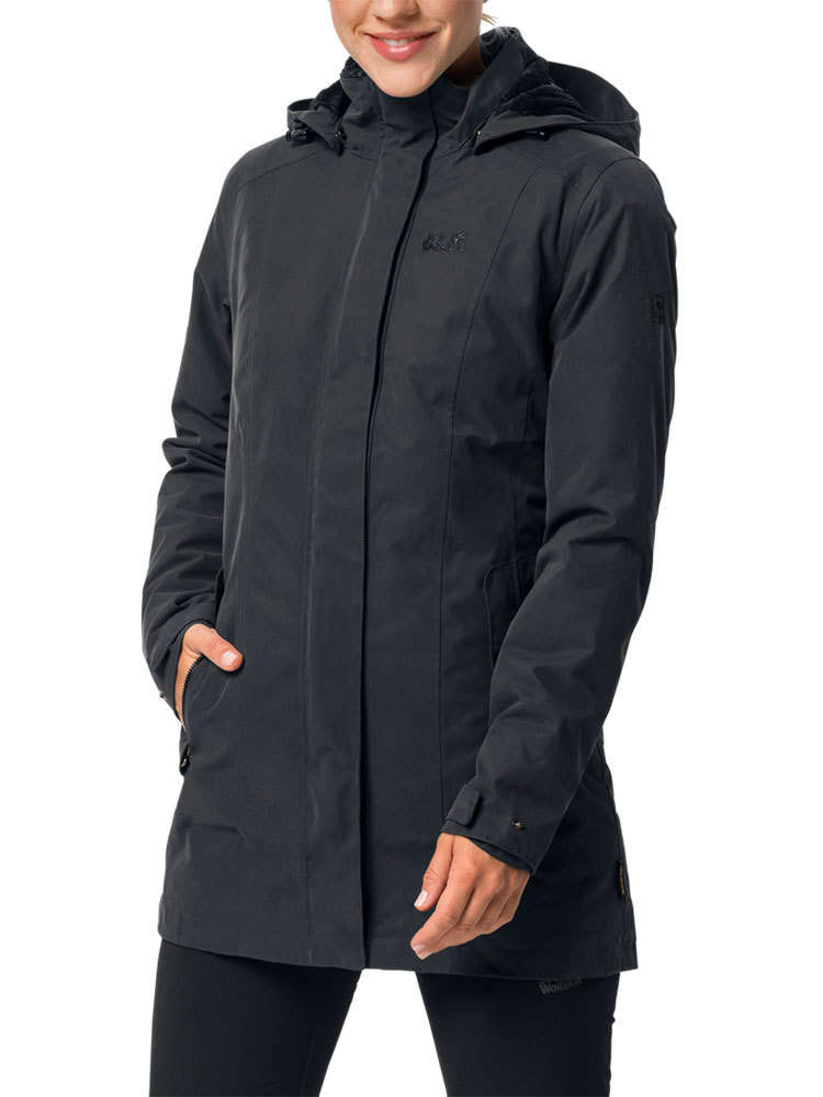 Jack Wolfskin Madison Avenue Hardshell Jas Dames, phantom l