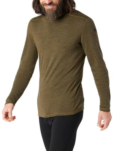 Smartwool Heren Merino 250 Baselayer Crew (Military Olive Heather)