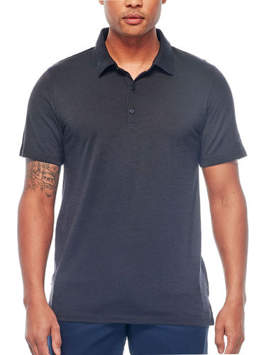 Icebreaker Heren Tech Lite Polo (Jet Heather)