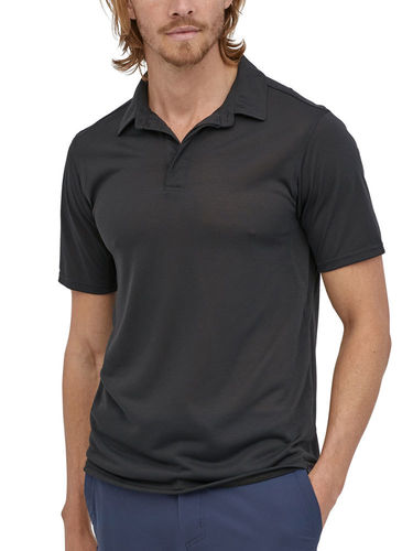 Patagonia Heren Cap Cool Trail Polo-Shirt (Black)