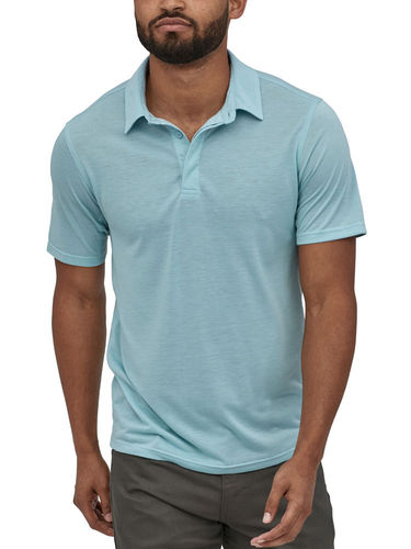 Patagonia Heren Cap Cool Trail Polo-Shirt (Big Sky Blue)