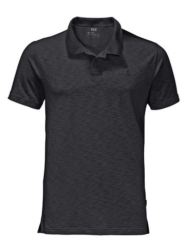 Jack Wolfskin Heren Travel Polo (Black)