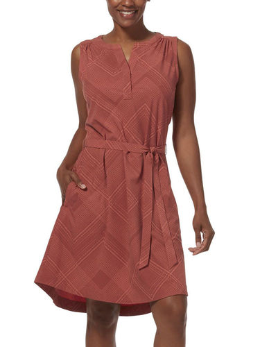 Royal Robbins Spotless Traveler Tank Dress (Terracotta Geo Dot Print)