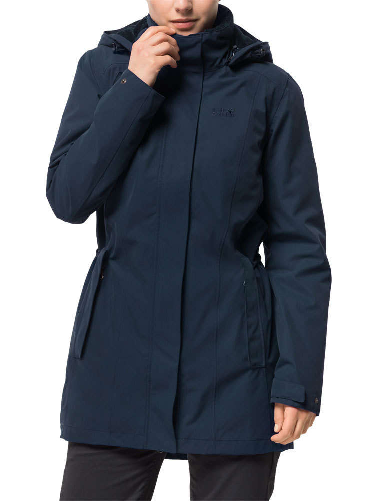 Jack Wolfskin Dames Madison Avenue Coat (Midnight Blue